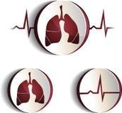 Sinais dos pulmões Imagens de Stock Royalty Free