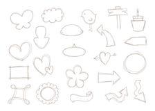 Sinais e formas da garatuja Foto de Stock Royalty Free