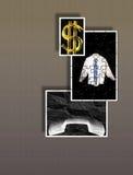 Sinais e símbolos de fazer o negócio - lucros - enigmas ilustração do vetor