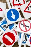 Sinais e símbolos de segurança fotografia de stock
