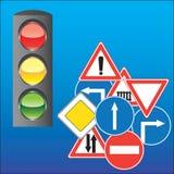Sinais e sinal de estrada Foto de Stock