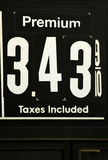 Sinais elevados dos preços de gás Fotos de Stock Royalty Free