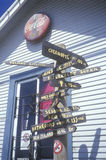 Sinais a em toda parte no condado de Mendocino Imagens de Stock Royalty Free