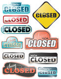 Sinais fechados lustrosos da loja ilustração do vetor