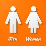 Sinais - homem, fêmea, wc Fotografia de Stock