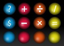 Sinais matemáticos Fotografia de Stock