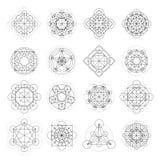 Sinais mágicos da geometria do vetor Imagens de Stock