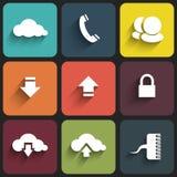 Sinais modernos de uma comunicação em placas da cor ilustração stock
