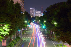 Sinais moventes em Yokohama, Japão fotos de stock royalty free
