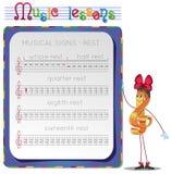 Sinais musicais Imagem de Stock Royalty Free