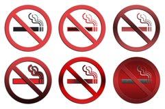 Sinais não fumadores Imagens de Stock