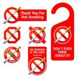 Sinais não fumadores. Vetor. Fotografia de Stock Royalty Free