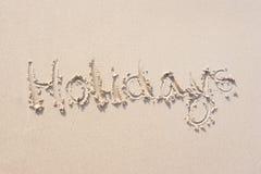 Sinais na areia Fotos de Stock Royalty Free