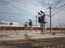 Sinais na estrada de ferro - imagem foto de stock royalty free