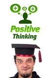 Sinais negativos positivos de vista principais novos Imagens de Stock