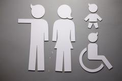 Sinais públicos do toalete fotos de stock royalty free