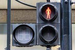 Sinais pedestres VERMELHOS Imagens de Stock Royalty Free