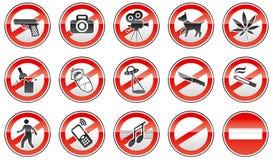 Sinais proibidos Fotos de Stock Royalty Free