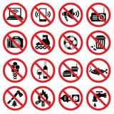 Sinais proibidos ilustração stock