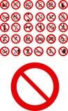 Sinais proibidos Imagem de Stock