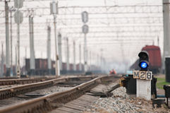 Sinais Railway Imagens de Stock