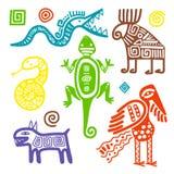 Sinais tribais primitivos da cultura mexicana ilustração royalty free