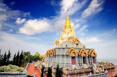 Sinakarintra Stit Mahasantikhiri Pagoda. At Doi Mae Salong, Chiang Rai province, Nothern of Thailand Royalty Free Stock Photography