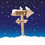 sinal 2012 ilustração do vetor
