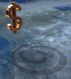 Sinal $ 3 Imagem de Stock Royalty Free
