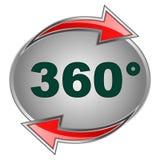 sinal 360 Fotografia de Stock Royalty Free