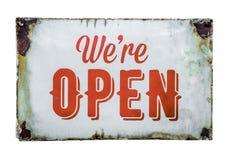 Sinal aberto da loja do vintage Imagem de Stock