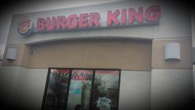 Sinal aberto de Burger King Foto de Stock