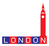 Sinal abstrato de Londres Foto de Stock