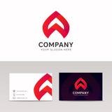 Sinal abstrato do ícone da empresa com desig do vetor do cartão do tipo Fotos de Stock