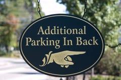 Sinal adicional do estacionamento Foto de Stock Royalty Free