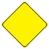 Sinal amarelo Foto de Stock