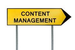 Sinal amarelo da gestão do índice do conceito da rua Imagem de Stock