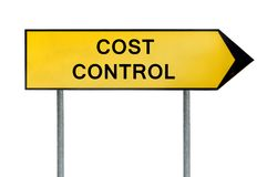 Sinal amarelo do controlo de custos do conceito da rua Foto de Stock Royalty Free