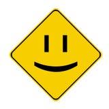 Sinal amarelo do sorriso Foto de Stock Royalty Free