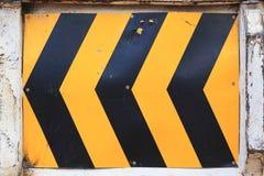 Sinal amarelo e preto Foto de Stock