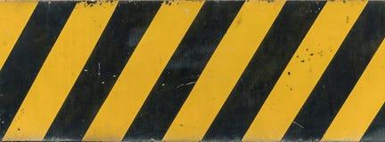 Sinal amarelo e preto Foto de Stock Royalty Free