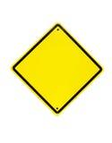 Sinal amarelo vazio - esvazie o símbolo amarelo no branco Imagem de Stock