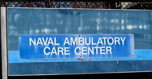 Sinal ambulatório naval do centro de assistência imagens de stock royalty free