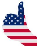 Sinal americano do dedo Fotografia de Stock