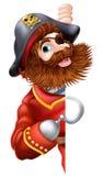 Sinal amigável do pirata dos desenhos animados Foto de Stock Royalty Free