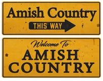 Sinal Amish da lata de Pensilvânia do país rústico fotografia de stock royalty free