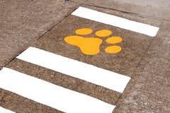 Sinal animal na rua Imagens de Stock Royalty Free