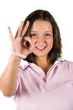 Sinal aprovado adolescente Imagem de Stock Royalty Free