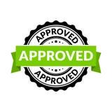 Sinal aprovado do selo do selo Vector o símbolo redondo de borracha da permissão para o fundo da aprovação ilustração royalty free