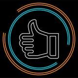 Sinal aprovado - polegar da mão acima do ícone ilustração stock